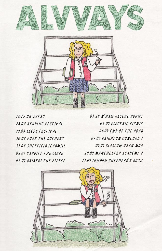 Alvvays tour poster